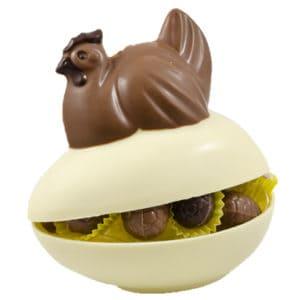Ei Bonbon Met Kip Witte Chocolade